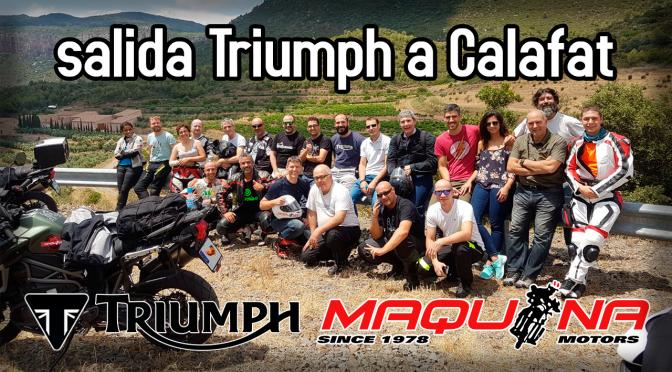 Salida TRIUMPH a Calafat (con @MaquinaMotors)