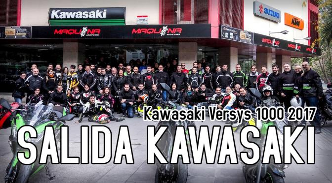 Salida KAWASAKI Maquina Motors (con la Kawasaki Versys 1000)